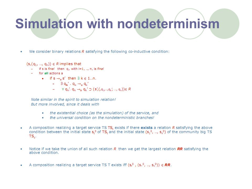 Simulation with nondeterminism