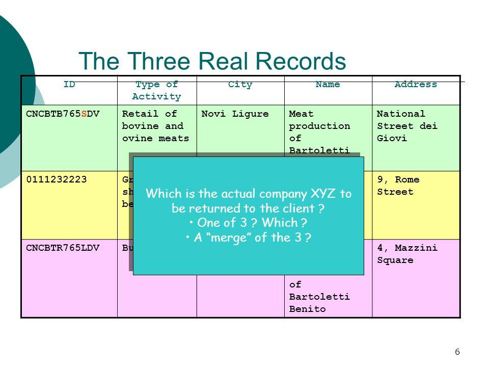 17 Privacy-aware Query Processing - 2 Algoritmi che consentano di fare privacy aware record matching in contesti P2P Problema della third party Prime proposte ElAbbadi ICDE 2006 ma matching esatto