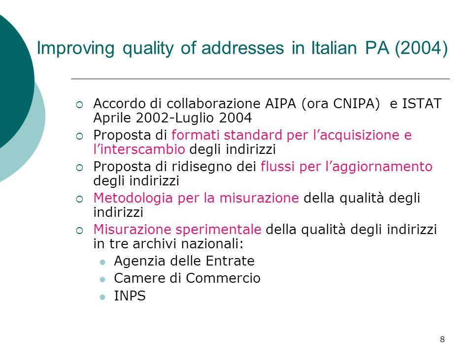 19 Modello di Trust per le sorgenti dati -1 Previous proposals: the whole organization (peer) Our proposal: # of D- exchanges of Org k # of complaints sent by Org i