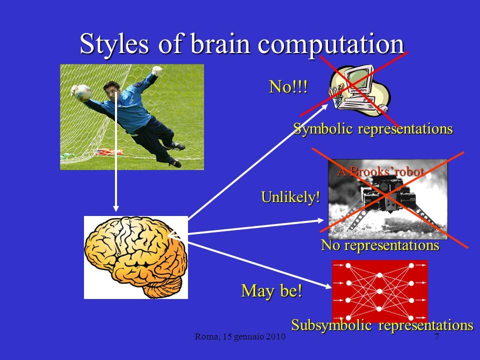 Roma, 15 gennaio 20107 Styles of brain computation No!!.