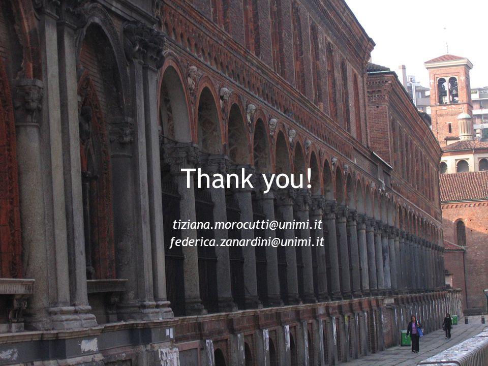 Thank you! tiziana.morocutti@unimi.it federica.zanardini@unimi.it