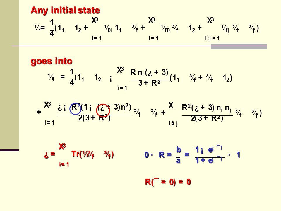 ½ 1 = 1 4 ( 1 1  1 2 + 3 X i = 1 ¿ ¡ R 2 ( 1 ¡ ( ¿ + 3 ) n 2 i ) 2 ( 3 + R 2 ) ¾ i  ¾ i + X i 6 = j R 2 ( ¿ + 3 ) n i n j 2 ( 3 + R 2 ) ¾ i  ¾ j )