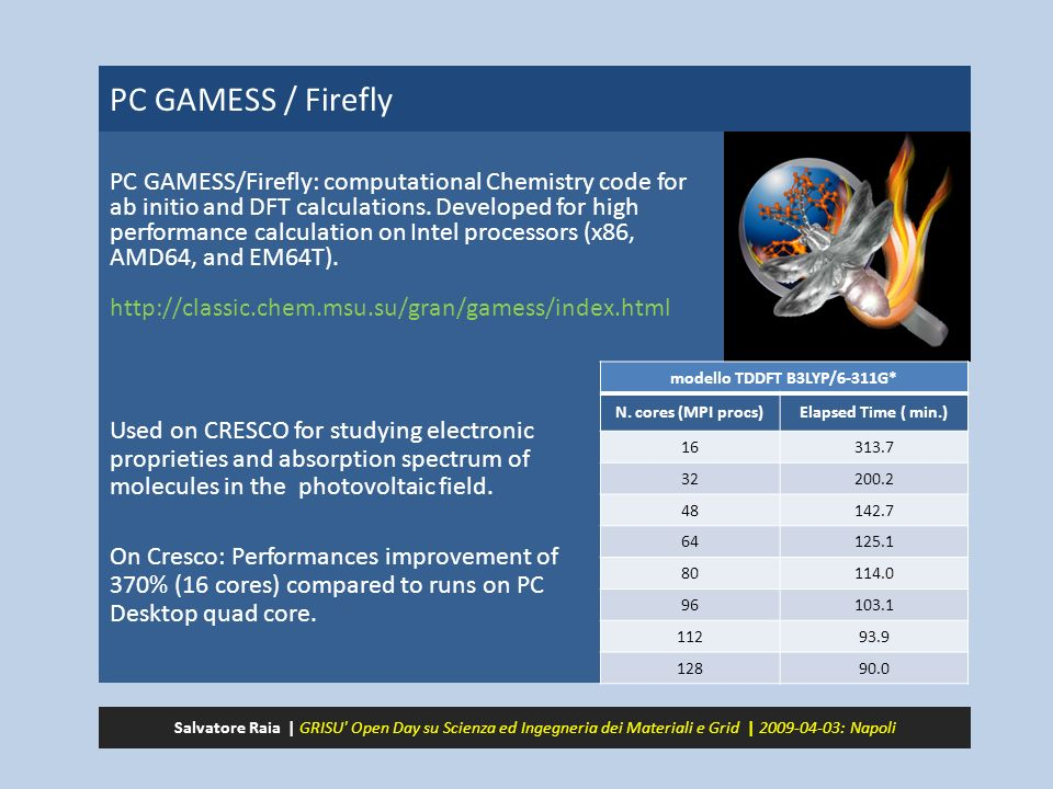 PC GAMESS / Firefly PC GAMESS/Firefly: computational Chemistry code for ab initio and DFT calculations.