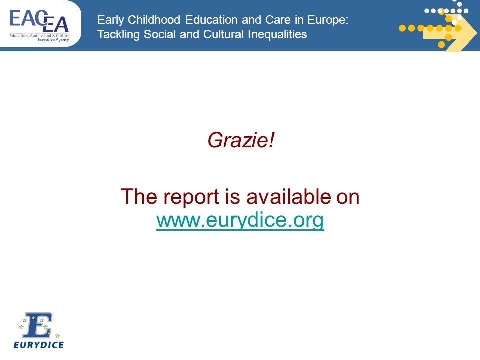 Early Childhood Education and Care in Europe: Tackling Social and Cultural Inequalities Grazie.