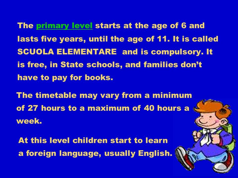 Class sizes generally run about twenty-five children per class.