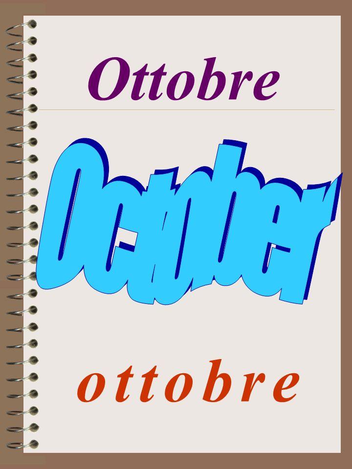 Ottobre o t t o b r eo t t o b r e