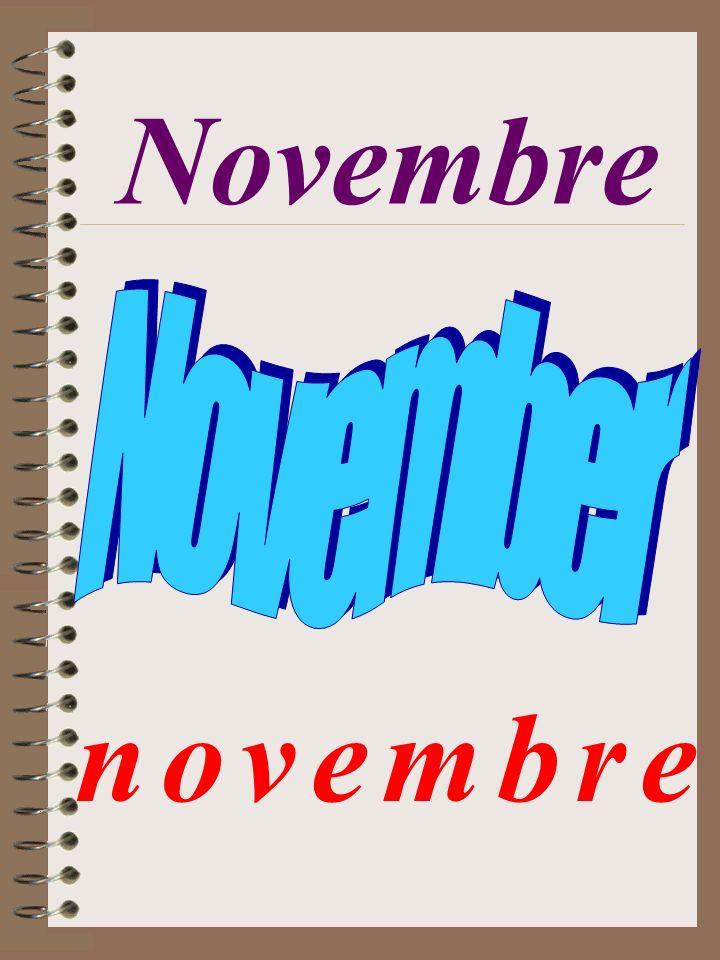 Novembre n o v e m b r en o v e m b r e