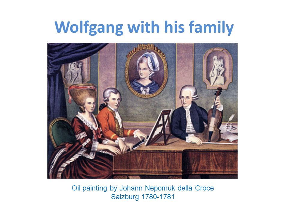 Wolfgang with his family Oil painting by Johann Nepomuk della Croce Salzburg 1780-1781
