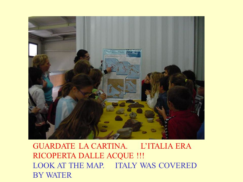 GUARDATE LA CARTINA. LITALIA ERA RICOPERTA DALLE ACQUE !!! LOOK AT THE MAP. ITALY WAS COVERED BY WATER