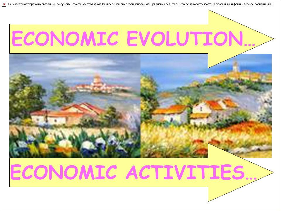 ECONOMIC EVOLUTION… ECONOMIC ACTIVITIES…