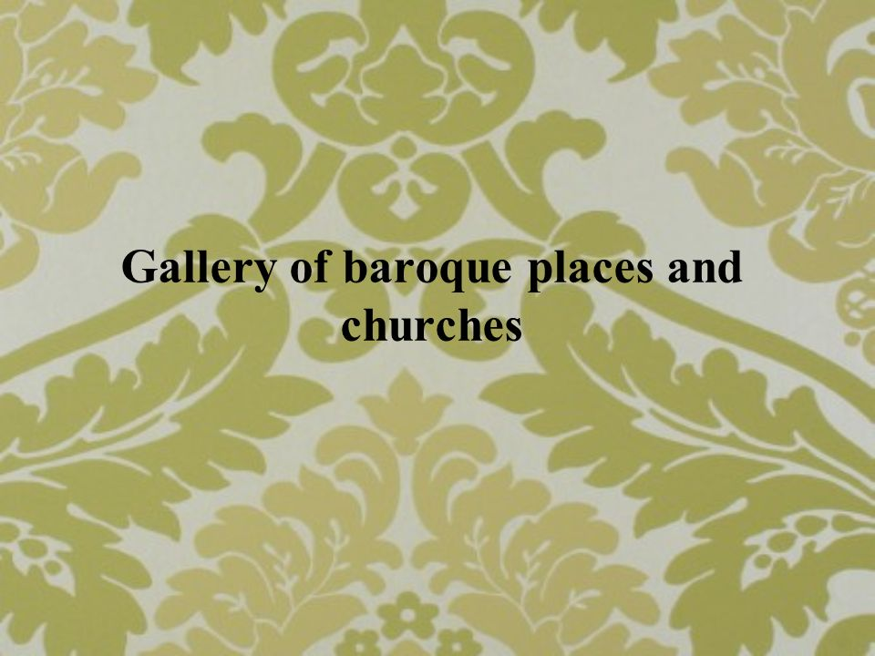 Gallery of baroque places and churches