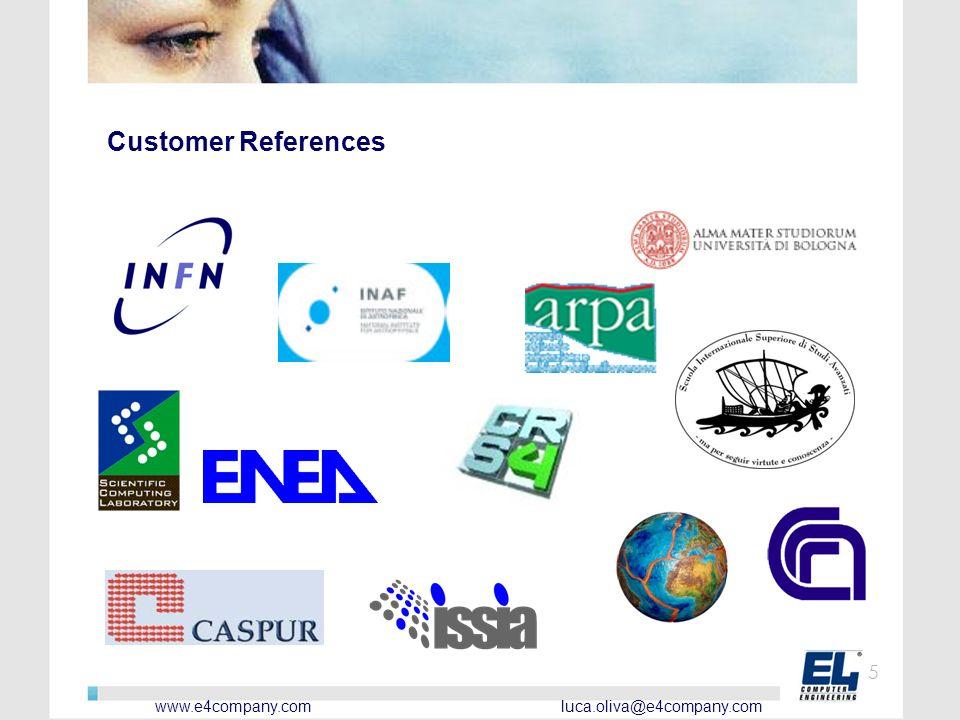 www.e4company.com luca.oliva@e4company.com 5 Customer References
