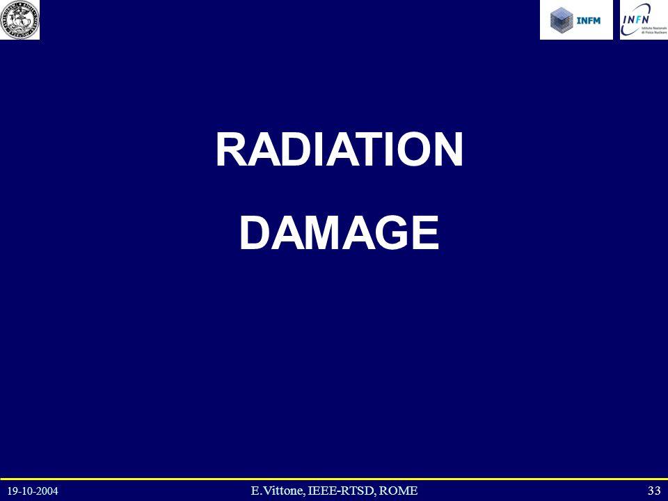 19-10-2004 33E.Vittone, IEEE-RTSD, ROME RADIATION DAMAGE