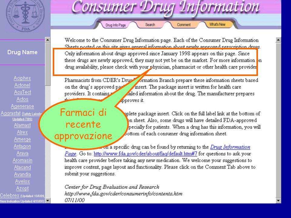 Farmaci di recente approvazione