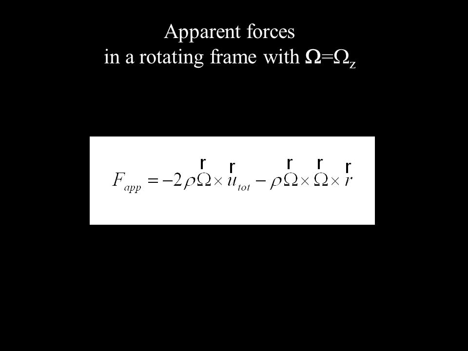 Apparent forces in a rotating frame with = z