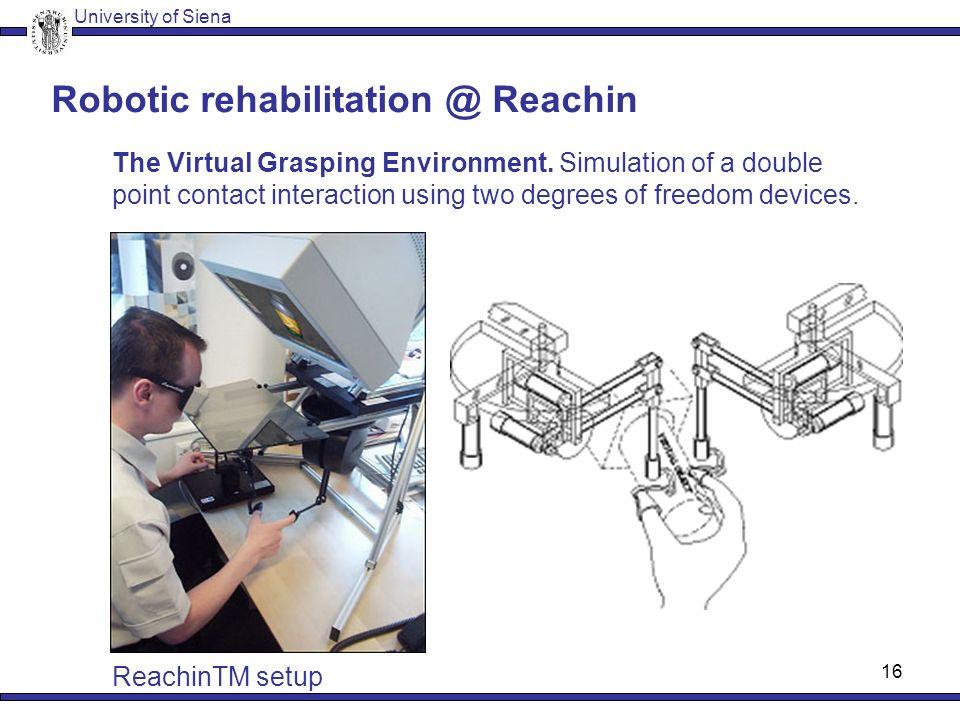 15 Robotic rehabilitation @ Siena/Milan The Grip Analyzer.
