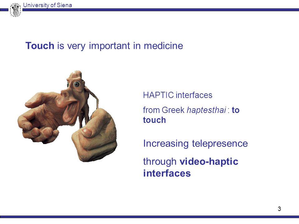 2 Haptic Interaction University of Siena