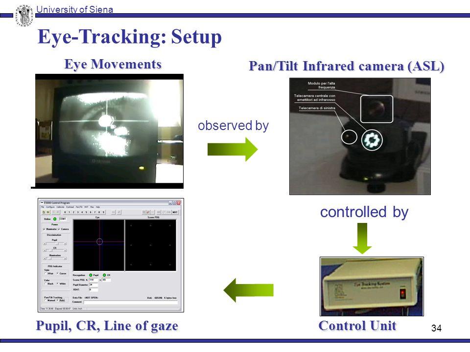 33 PC Eye movement data Eye Tracking University of Siena