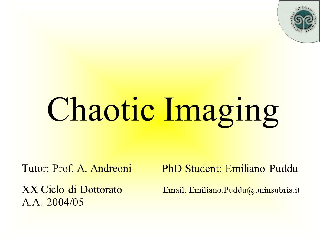 Index Three wave interaction Chaotic imaging Image enhancement & recovery Imaging Configurations