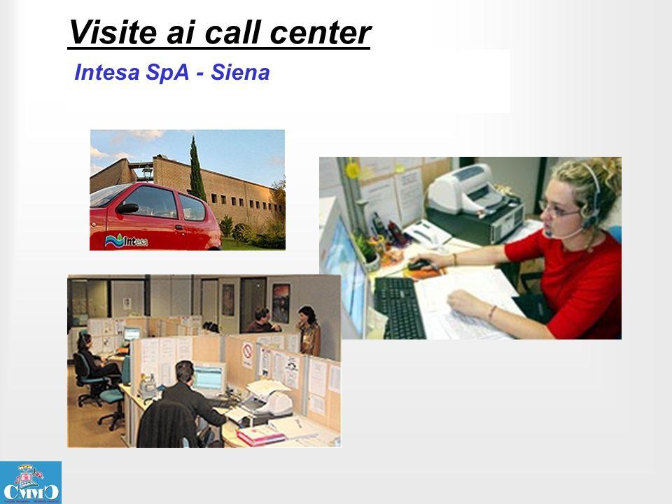 Visite ai call center Intesa SpA - Siena