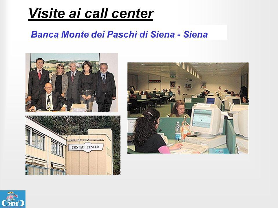 Visite ai call center Banca Monte dei Paschi di Siena - Siena