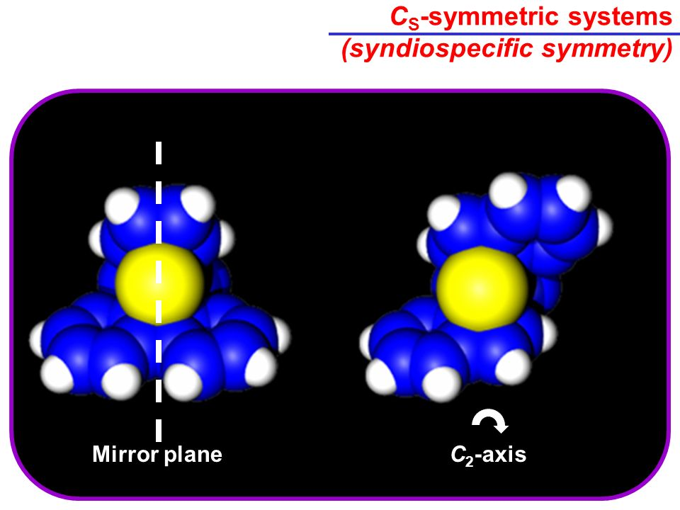 C S -symmetric systems (syndiospecific symmetry) C 2 -axisMirror plane