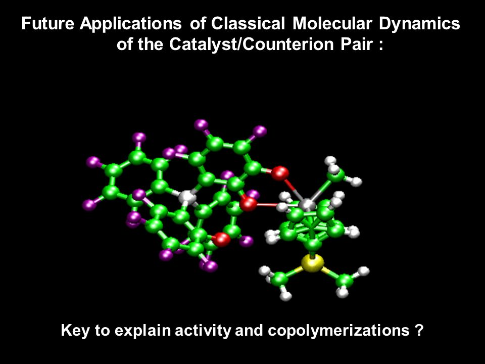 Dynamic Behavior of the Metallocene/Borate Ion-pair (Forming and breaking of M…F interactions) Future Applications of Classical Molecular Dynamics of