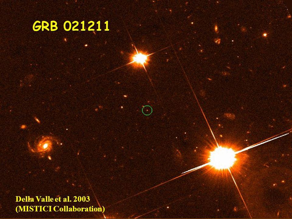 12 GRB 021211 Della Valle et al. 2003 (MISTICI Collaboration)