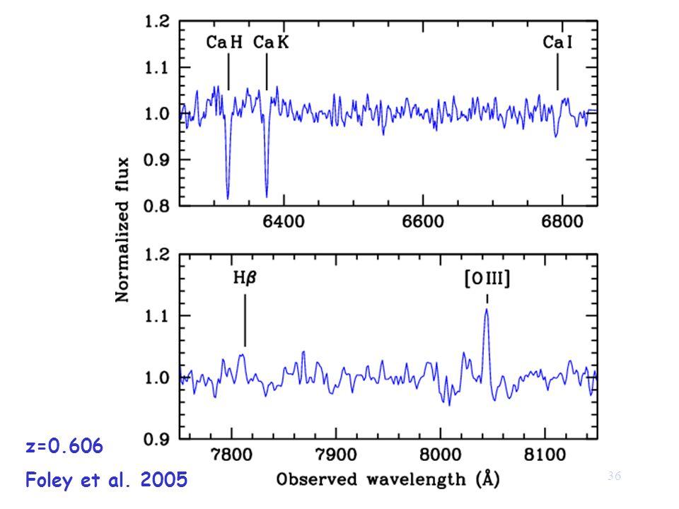36 z=0.606 Foley et al. 2005