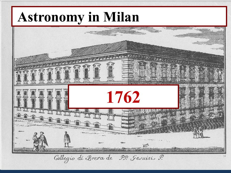 1762 Astronomy in Milan