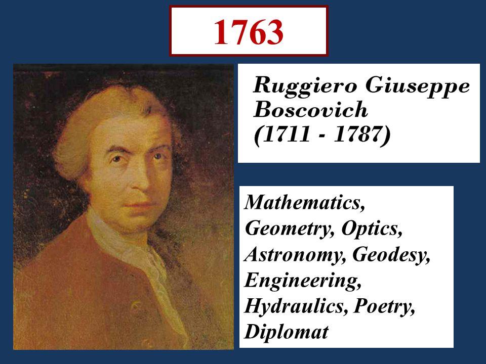 1763 Mathematics, Geometry, Optics, Astronomy, Geodesy, Engineering, Hydraulics, Poetry, Diplomat