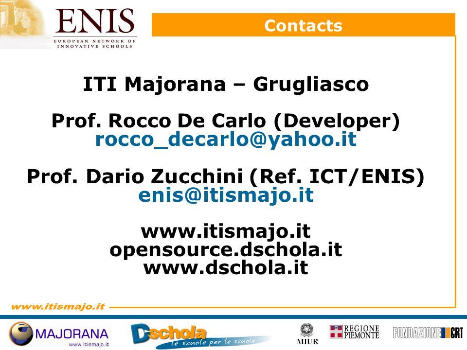 10 MIUR Contacts ITI Majorana – Grugliasco Prof.