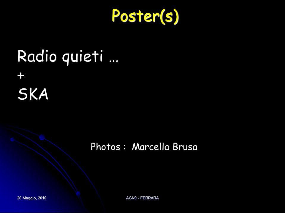 26 Maggio, 2010 AGN9 - FERRARA Poster(s) Radio quieti … + SKA Photos : Marcella Brusa