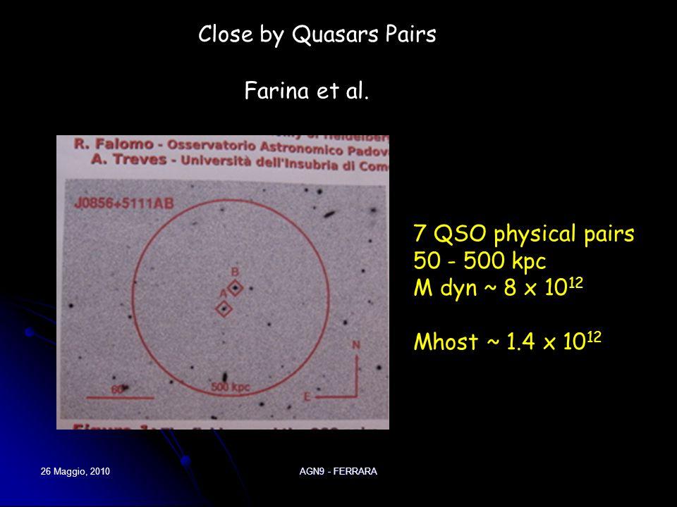 26 Maggio, 2010AGN9 - FERRARA Severgnini et al.