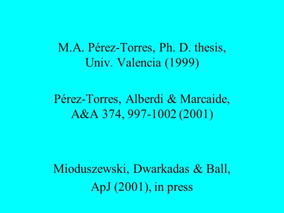 M.A. Pérez-Torres, Ph. D. thesis, Univ.