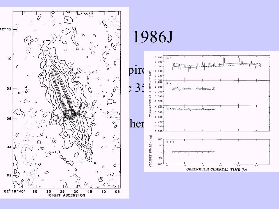 SN 1986J Bartel, Rupen, Shapiro ApJ 337, L85 (1989) Bartel et al.
