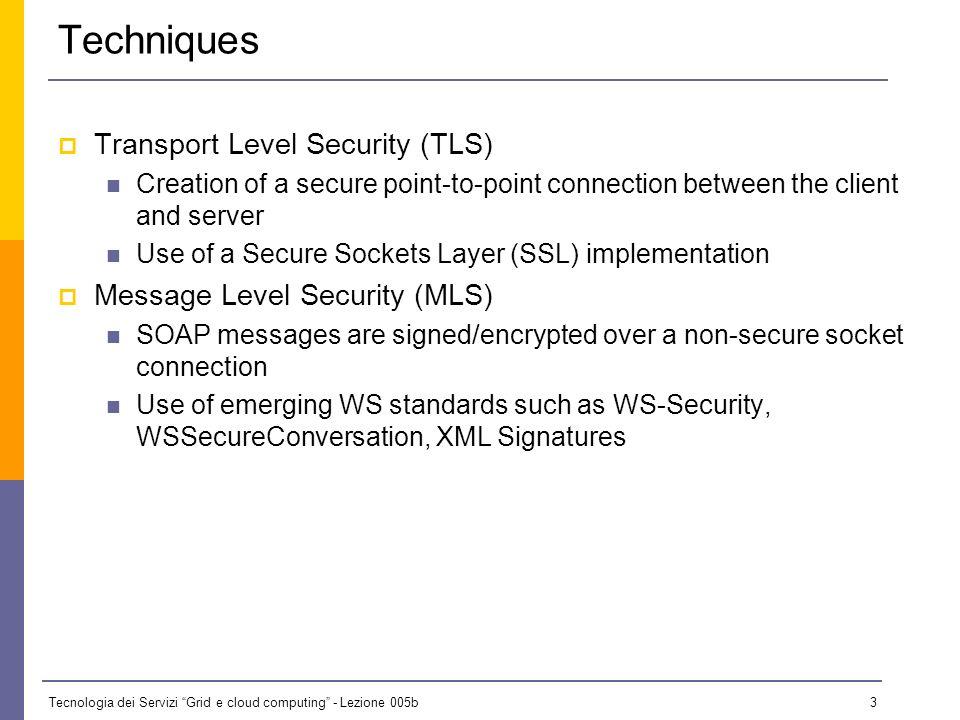 Tecnologia dei Servizi Grid e cloud computing - Lezione 005b 2 Securing the Channel