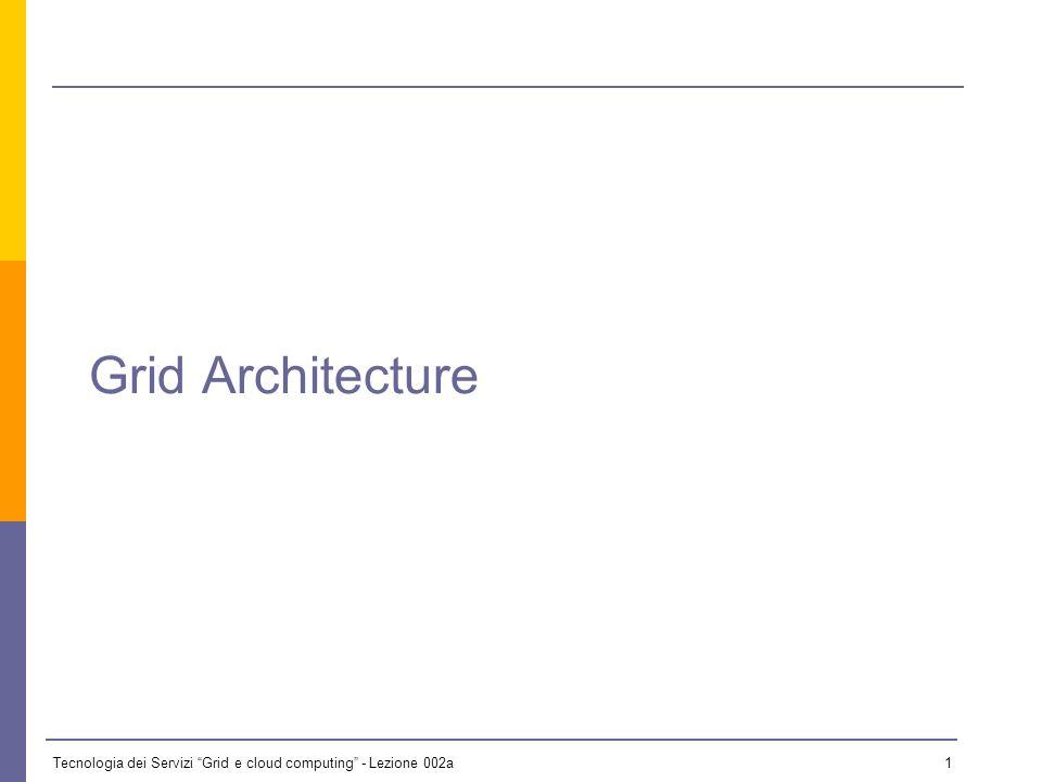 Tecnologia dei Servizi Grid e cloud computing - Lezione 002a 21 Cluster Grid Networks of Workstations, Blades, etc.