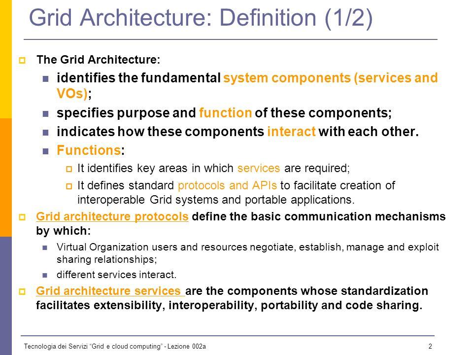 Tecnologia dei Servizi Grid e cloud computing - Lezione 002a 22 How Are Grids Used.
