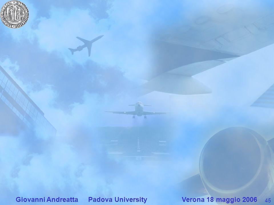 45 Giovanni Andreatta Padova University Verona 18 maggio 2006