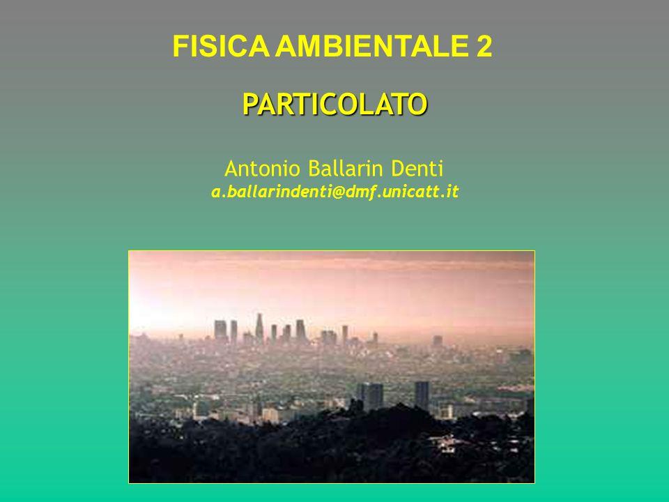 PARTICOLATO FISICA AMBIENTALE 2 Antonio Ballarin Denti a.ballarindenti@dmf.unicatt.it