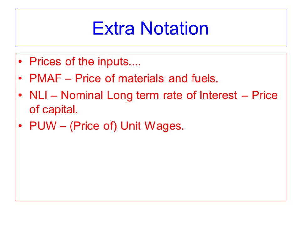 Chapter 16 Cobb Douglas cost function: C(y) = ky 1/(a+b) w 1 a/(a+b) w 2 b/(a+b) Supply curve given by marginal cost=price.