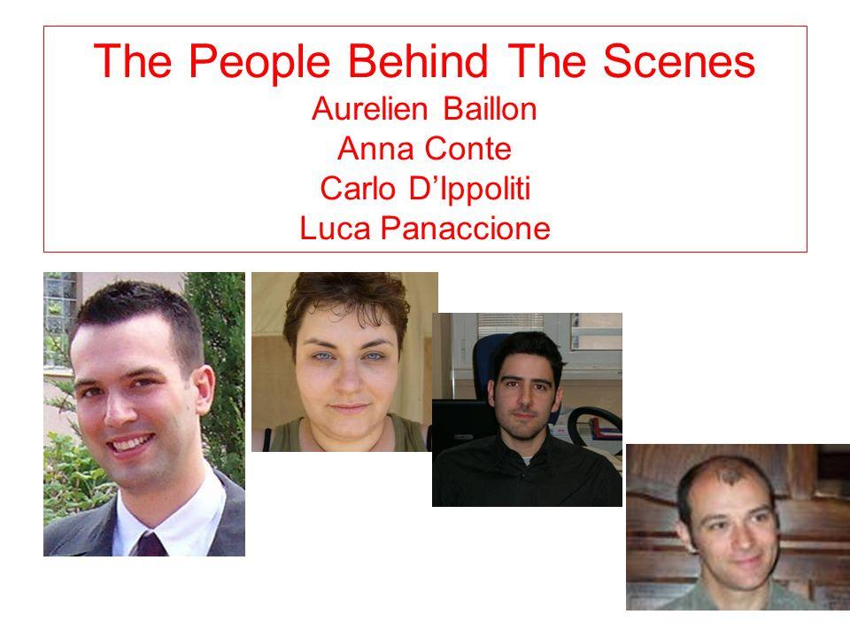 The People Behind The Scenes Aurelien Baillon Anna Conte Carlo DIppoliti Luca Panaccione