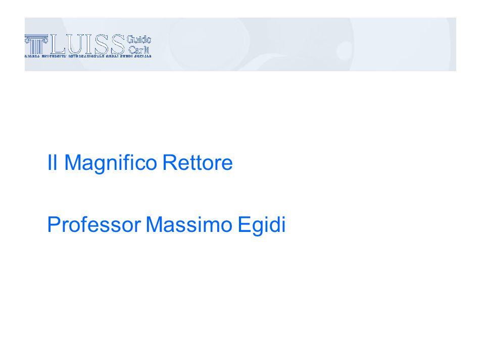 Il Magnifico Rettore Professor Massimo Egidi