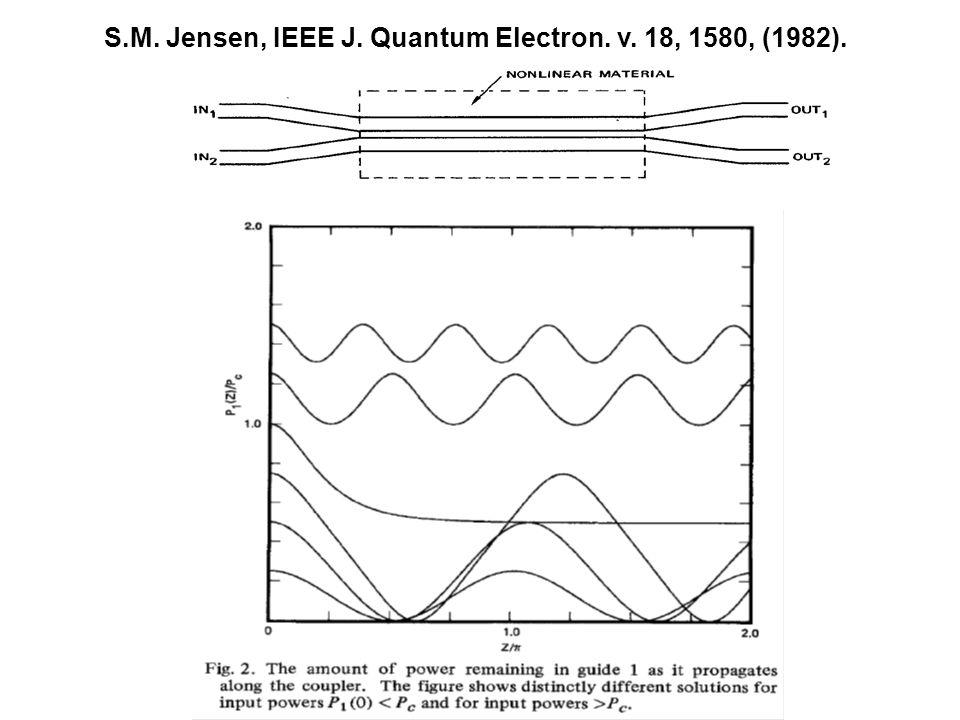 S.M. Jensen, IEEE J. Quantum Electron. v. 18, 1580, (1982).