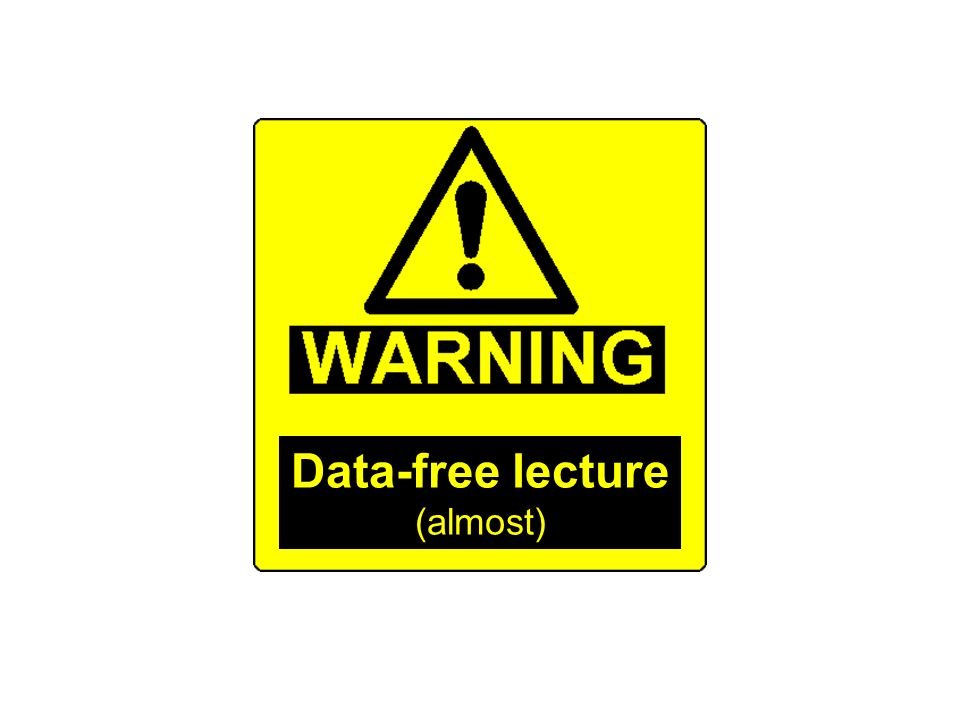 Data-free lecture (almost)