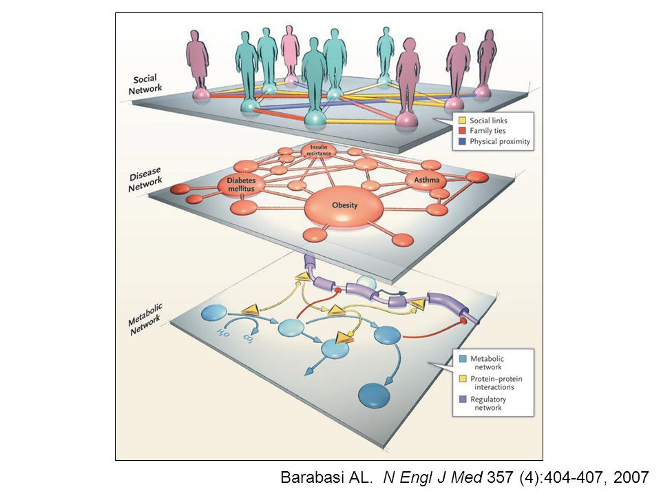 Barabasi AL. N Engl J Med 357 (4):404-407, 2007