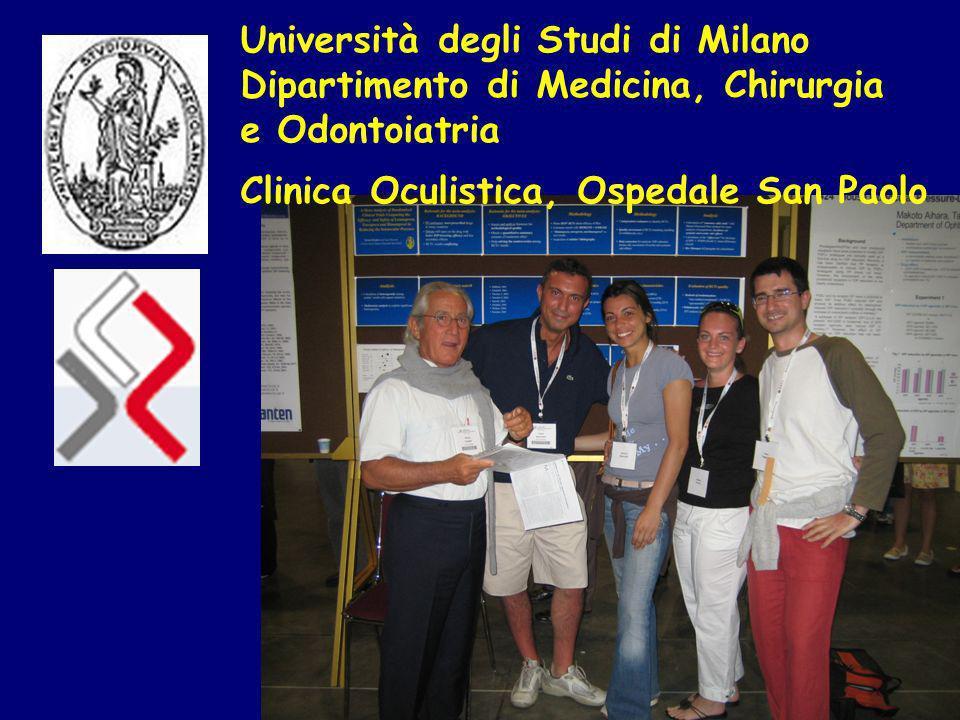Università degli Studi di Milano Dipartimento di Medicina, Chirurgia e Odontoiatria Clinica Oculistica, Ospedale San Paolo