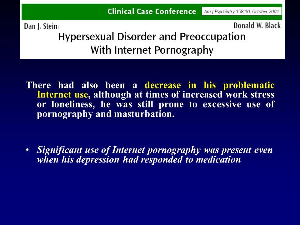 Conclusioni degli autori: -disturbo autonomo (Internet addiction) o diversa espressione del disturbo depressivo maggiore .
