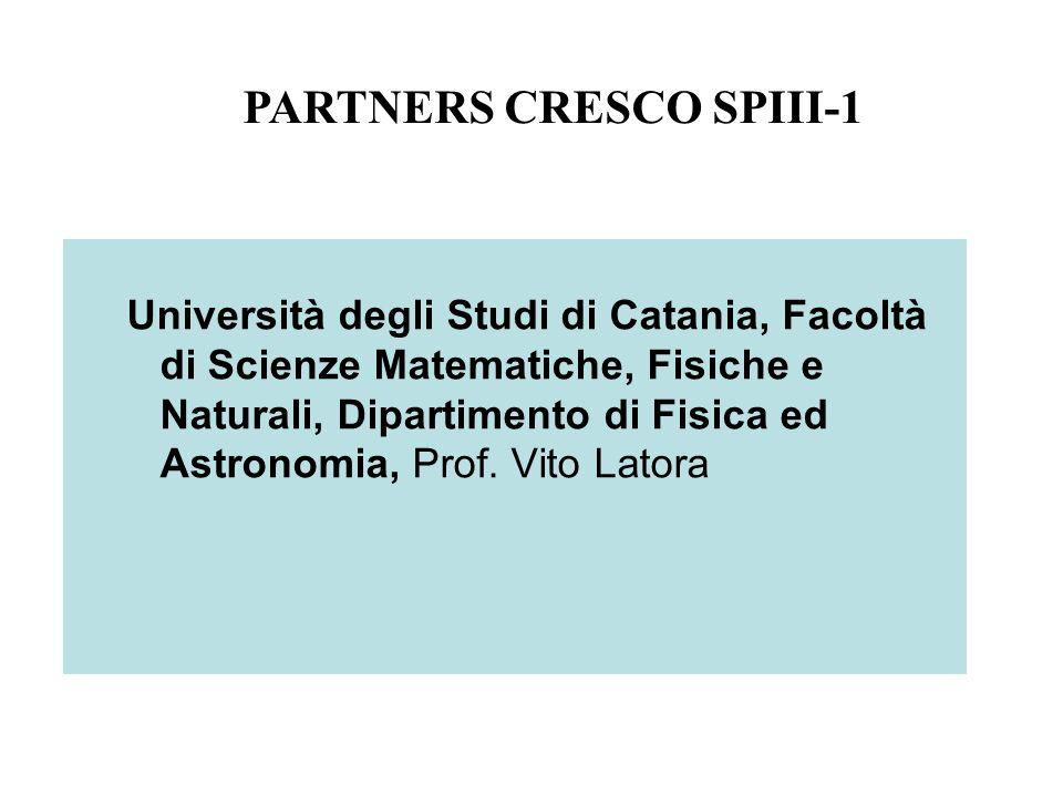 Università degli Studi di Catania, Facoltà di Scienze Matematiche, Fisiche e Naturali, Dipartimento di Fisica ed Astronomia, Prof. Vito Latora PARTNER